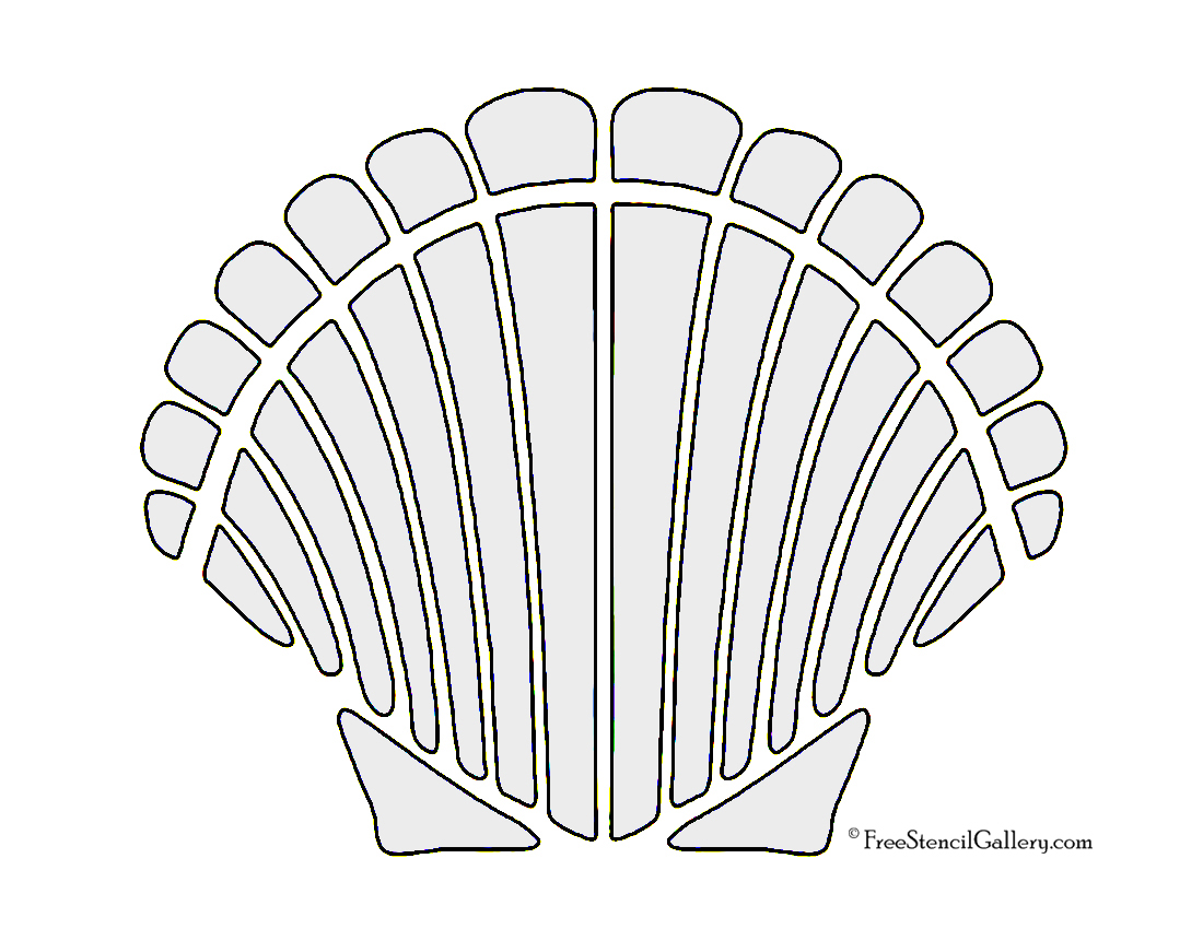 It is a graphic of Magic Free Printable Seashell Stencils
