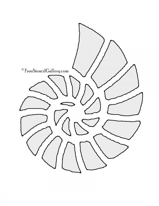 Seashell 02 Stencil