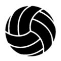 Volleyball Stencil