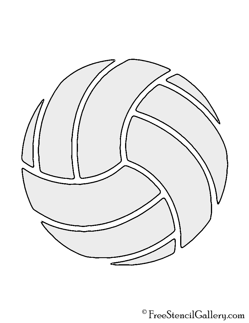 Volleyball stencil free gallery