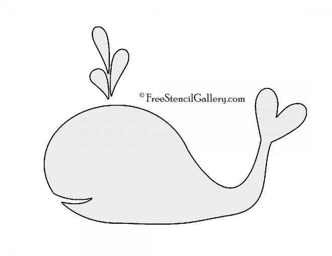 Whale Stencil 02