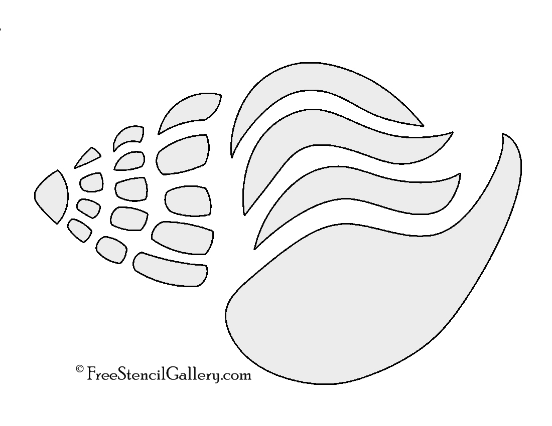 It is a picture of Sassy Free Printable Seashell Stencils