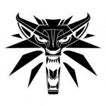 Witcher Wolf Logo Stencil