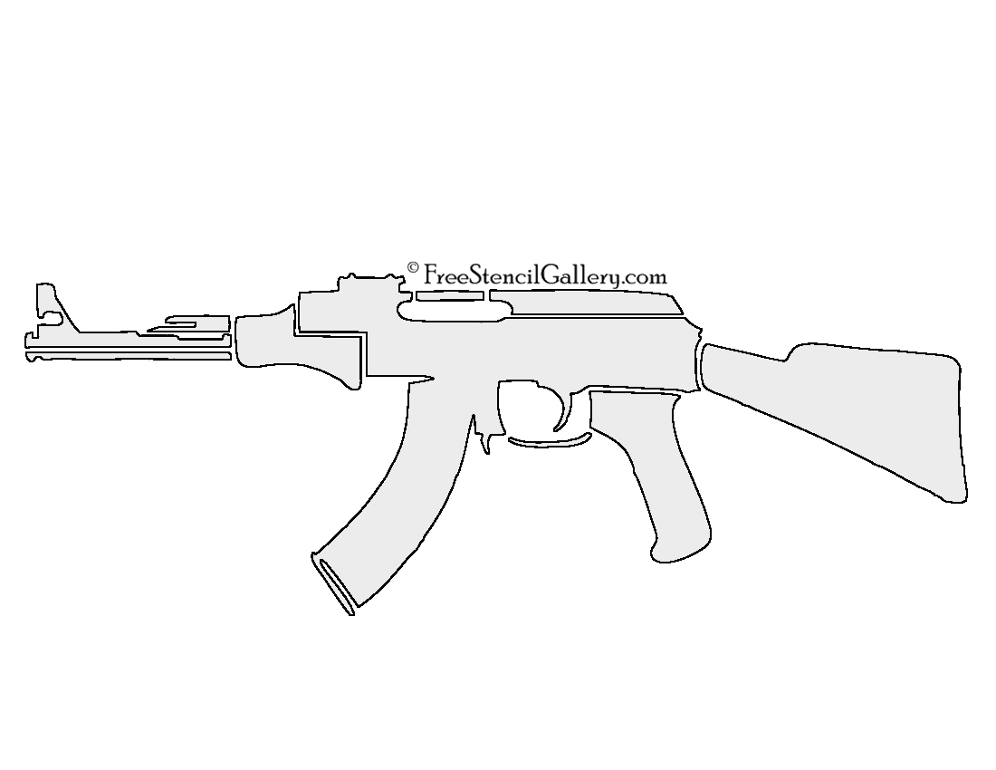 Fan image within gun stencils printable