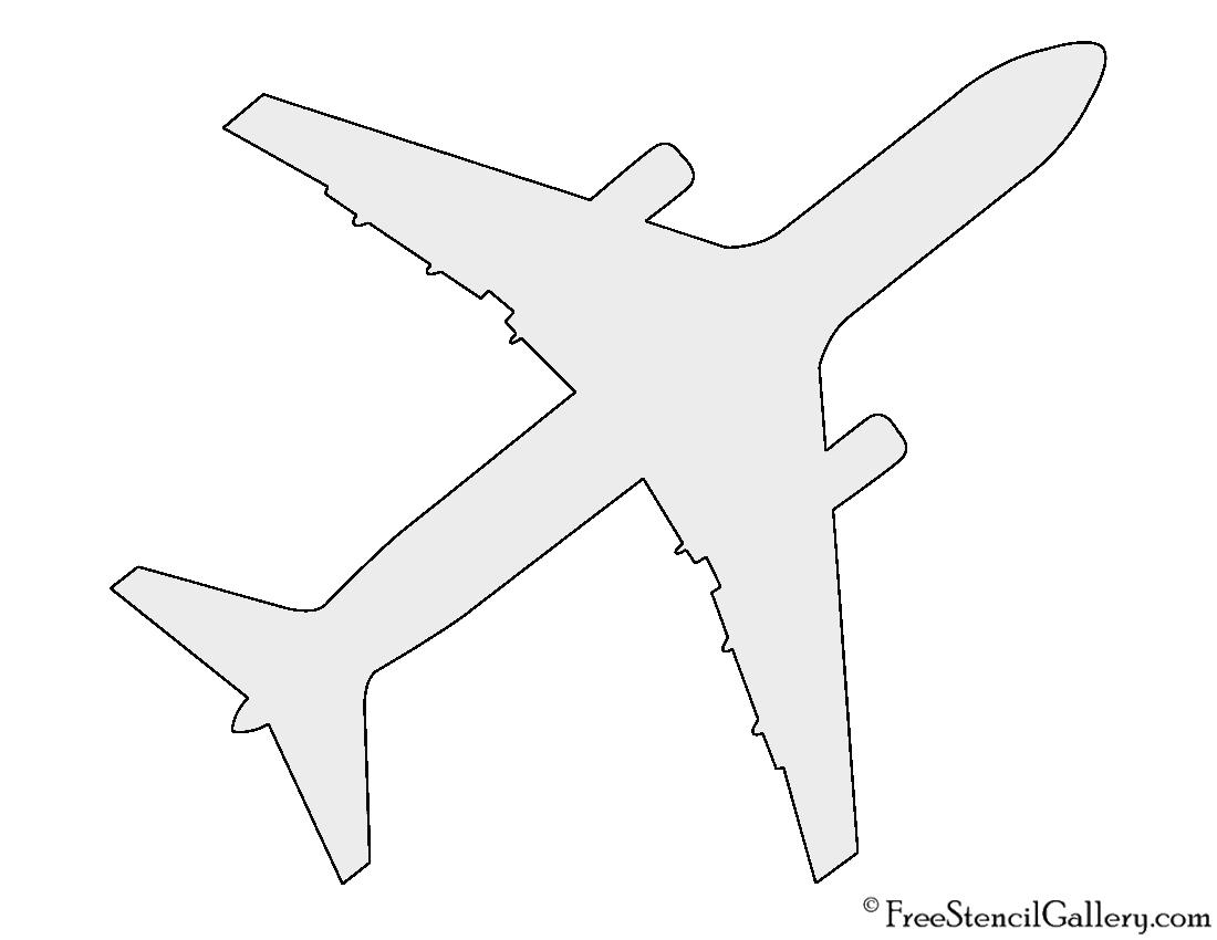 Airplane Silhouette Stencil | Free Stencil Gallery