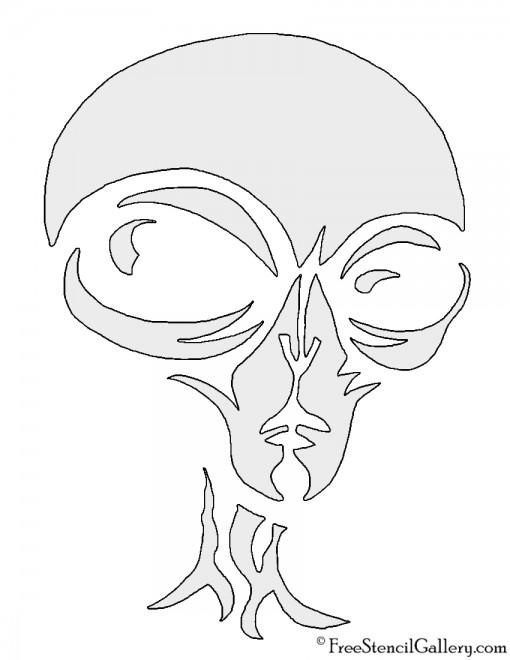 Alien Face Stencil