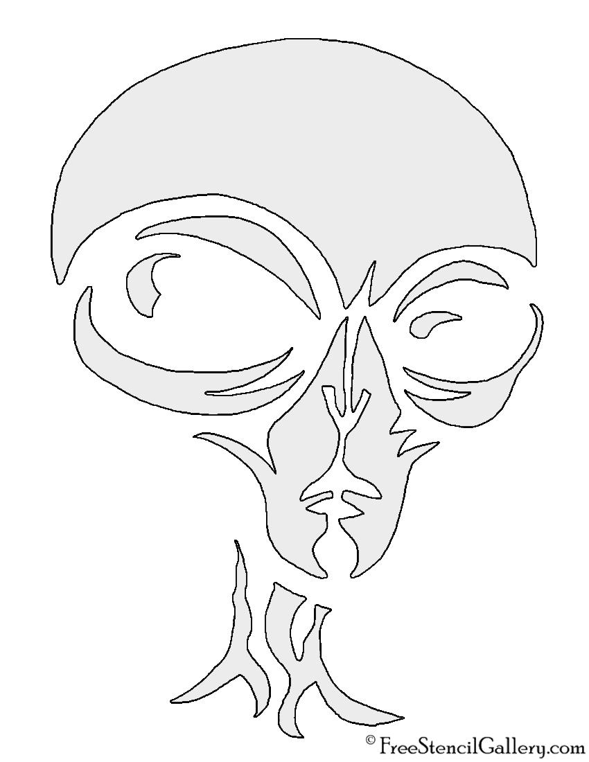 Alien face stencil free gallery