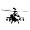 Apache Helicopter Stencil