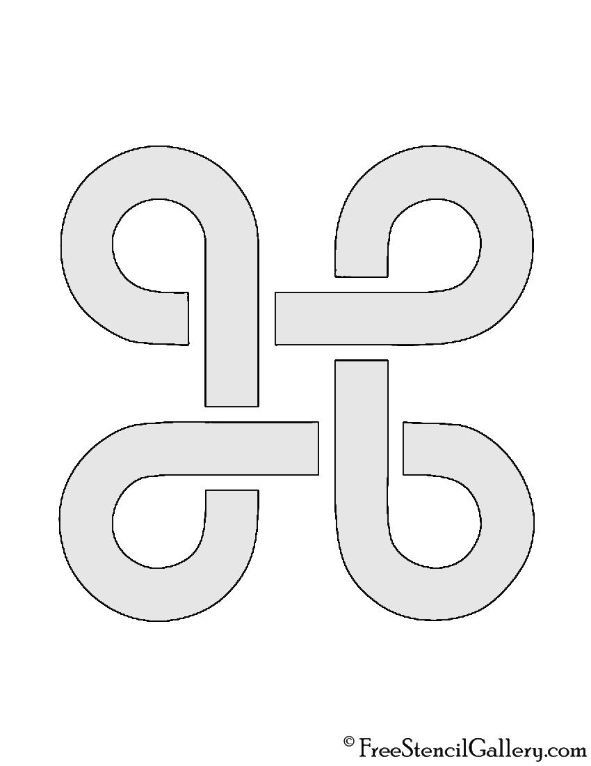 Apple Command Key Stencil