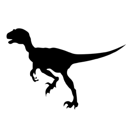 Dinosaur – Velociraptor Silhouette Stencil