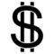 Dollar Sign Stencil