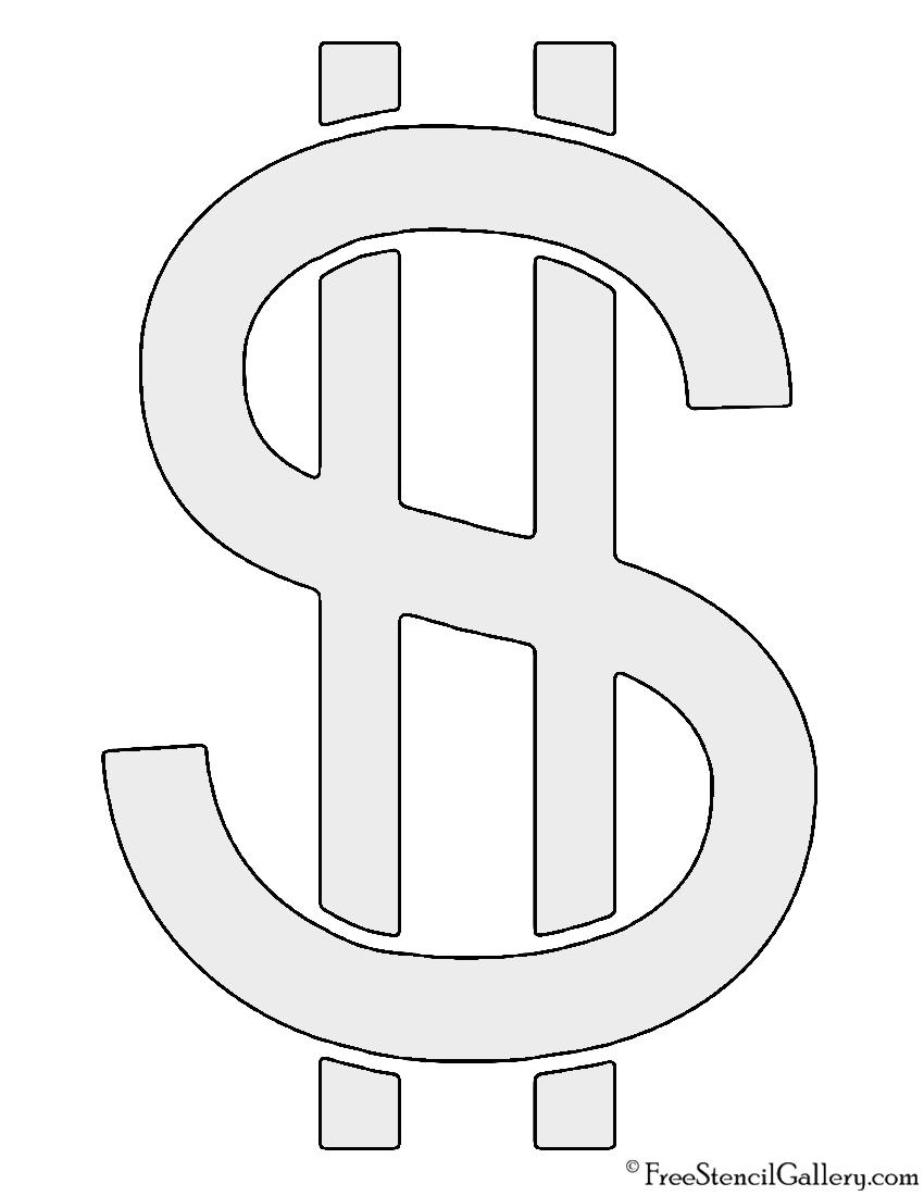Dollar Sign Stencil Free Stencil Gallery