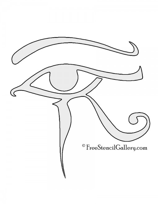 Egyptian Eye of Horus Stencil