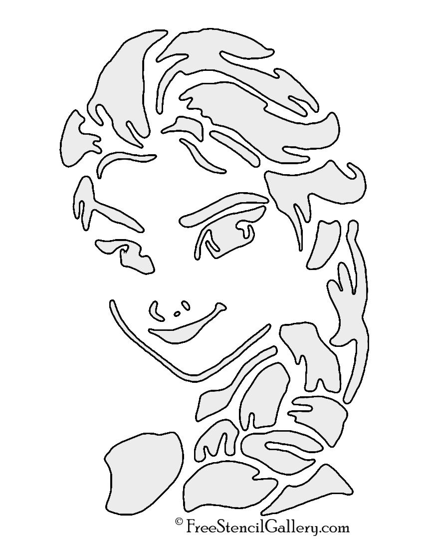 Frozen - Elsa Stencil