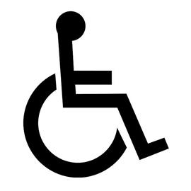 Handicap Symbol Stencil