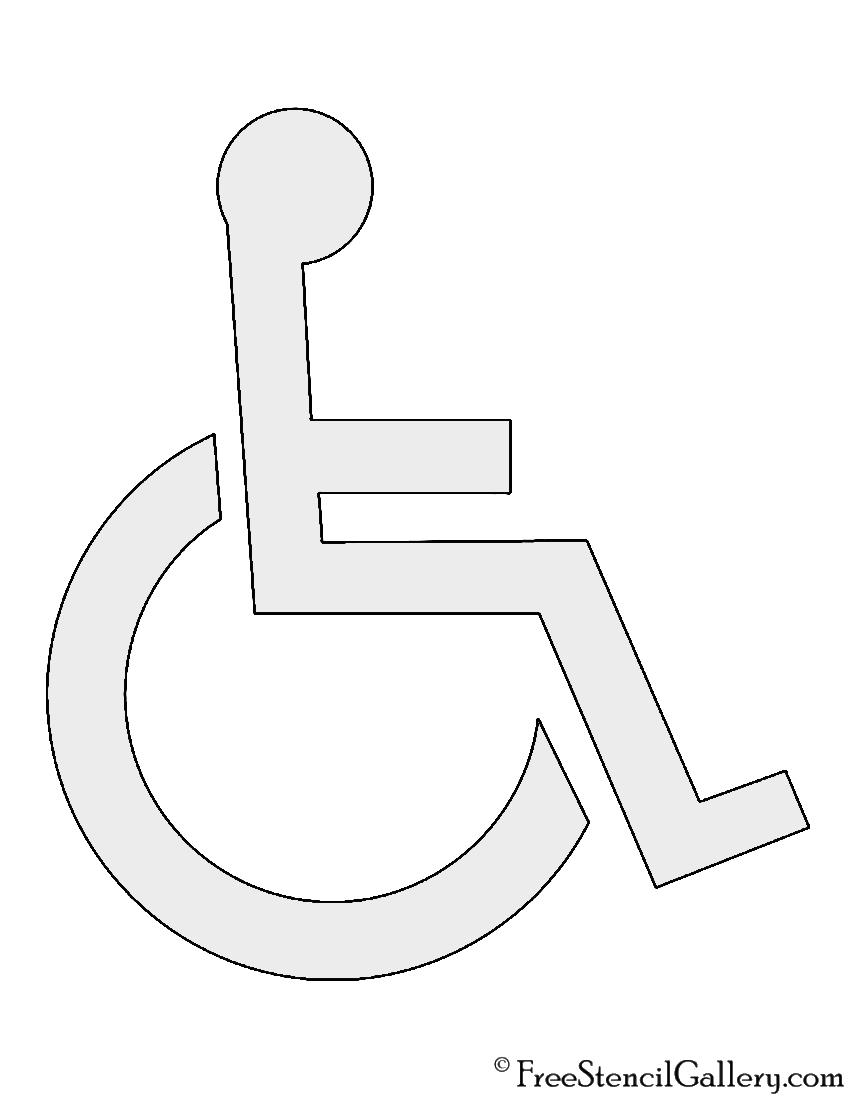 Handicap symbol stencil free stencil gallery handicap symbol stencil maxwellsz