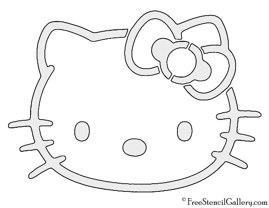 hello kitty stencil free stencil gallery