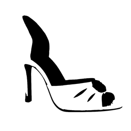 High Heel Shoe Stencil
