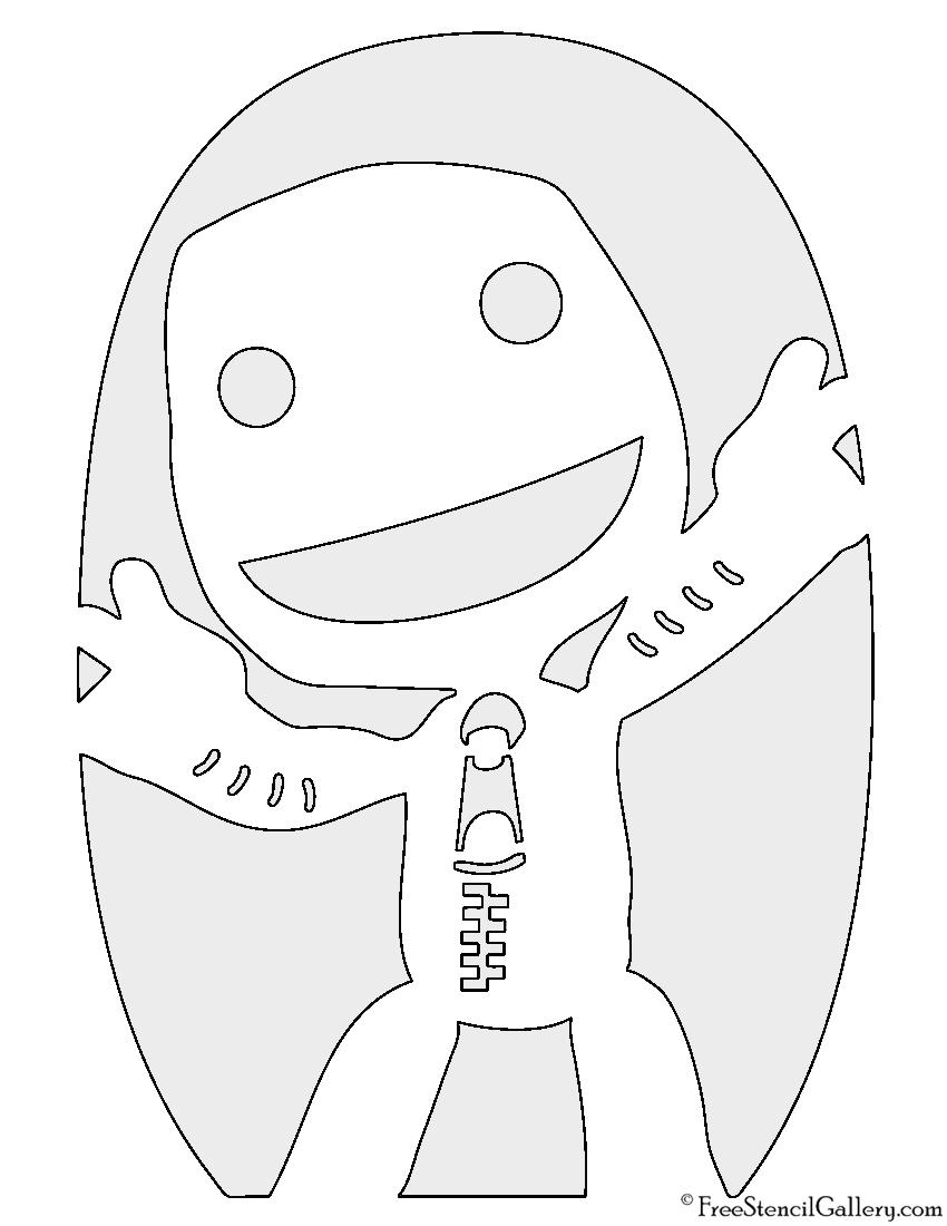 Little Big Planet - Sackboy Stencil
