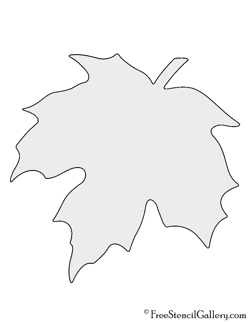 Adaptable image for printable leaf stencil