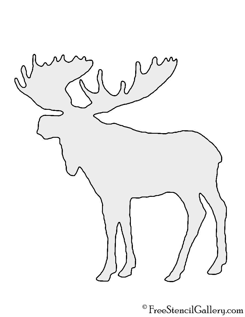 Free Printable Moose Stencils