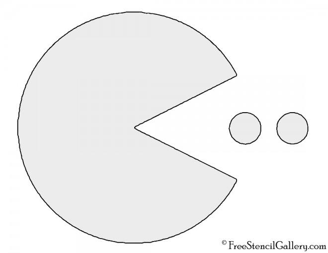 Pac Man Stencil
