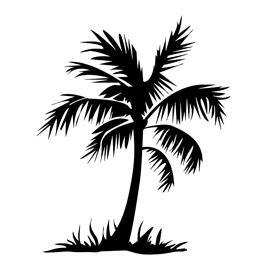 Palm Tree Stencil