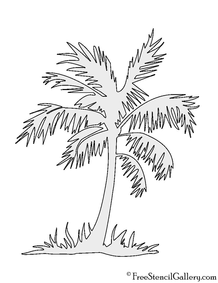 Palm Tree Stencil   Free Stencil Gallery