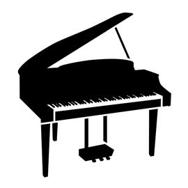 Piano Stencil