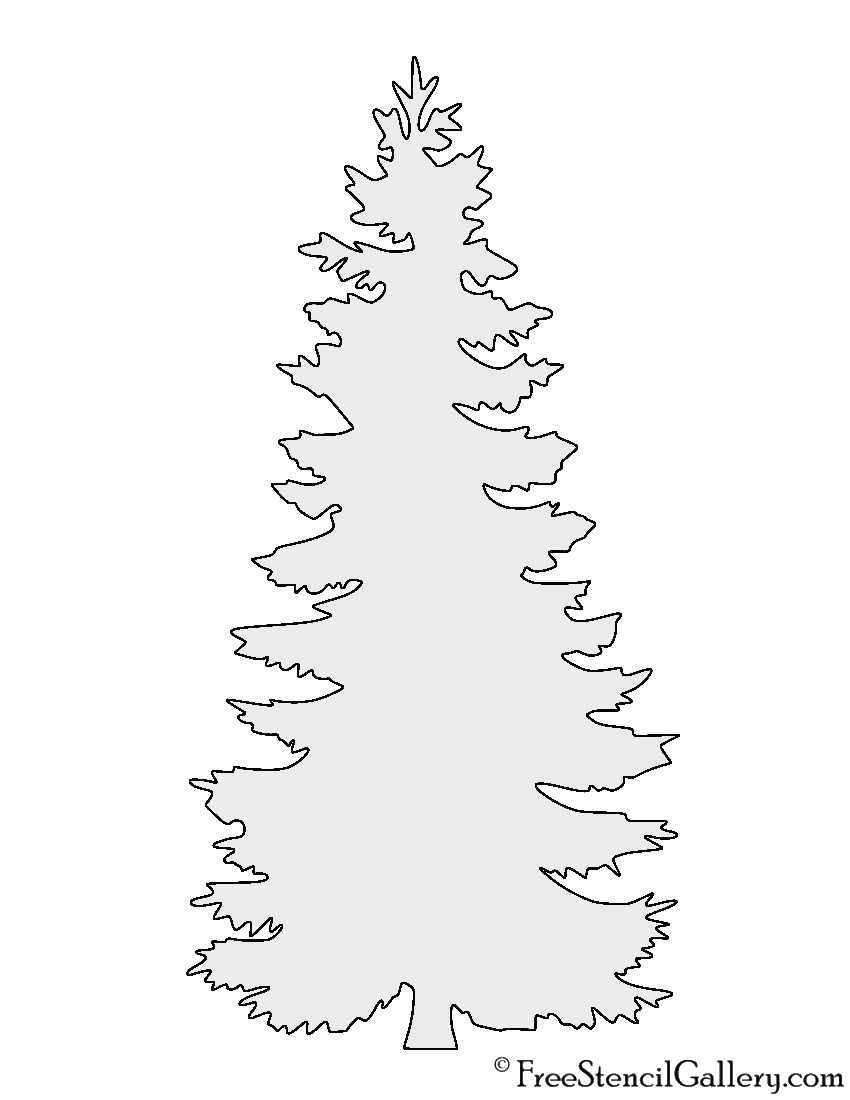 picture about Printable Tree Stencil named Pine Tree Stencil Absolutely free Stencil Gallery