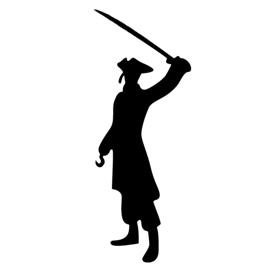 Pirate Silhouette Stencil
