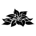 Poinsettia Flower Stencil