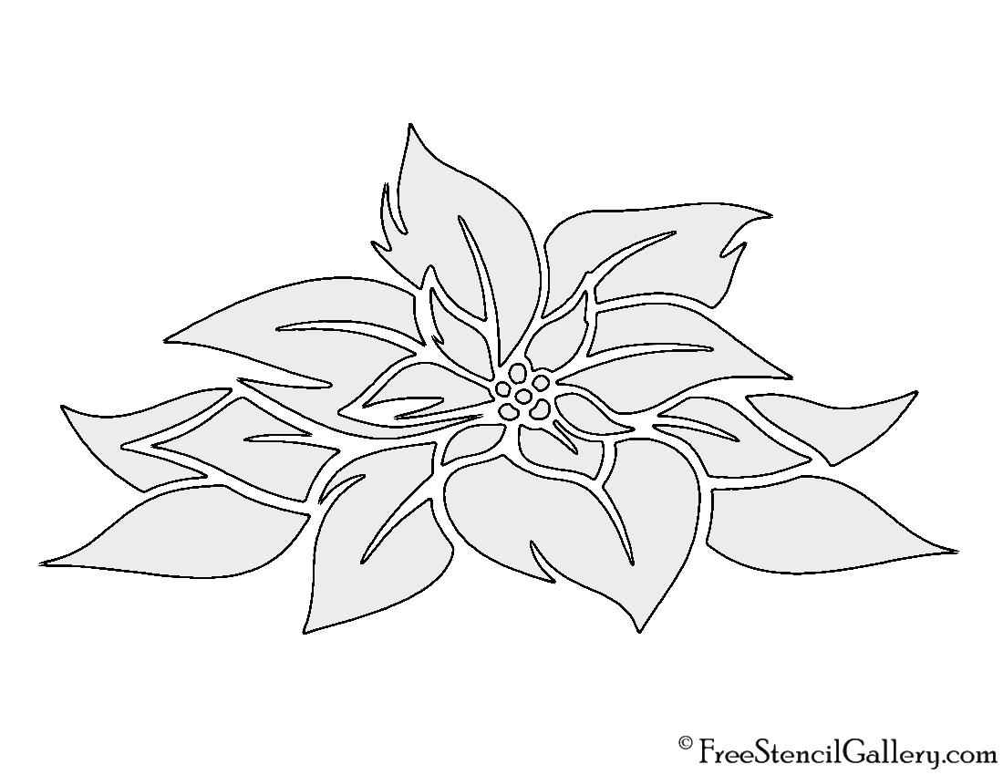 Poinsettia flower stencil free stencil gallery poinsettia flower stencil izmirmasajfo