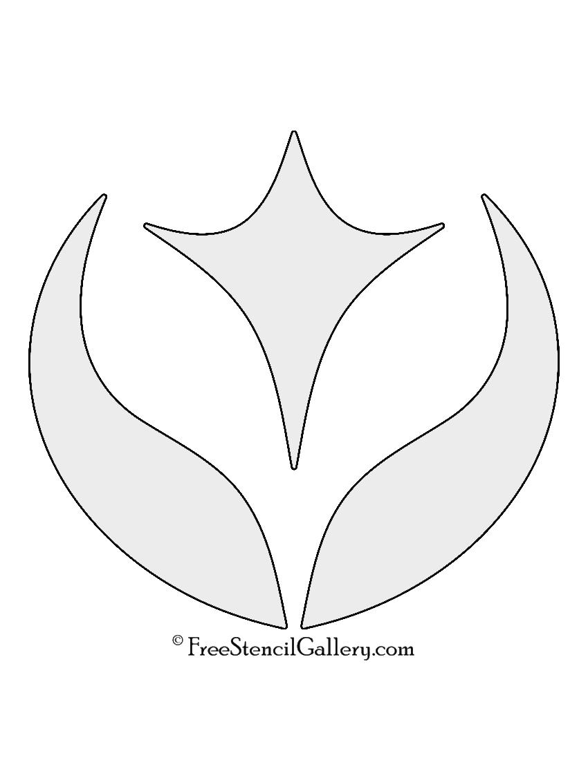 Pokemon - Fairy Type Symbol Stencil