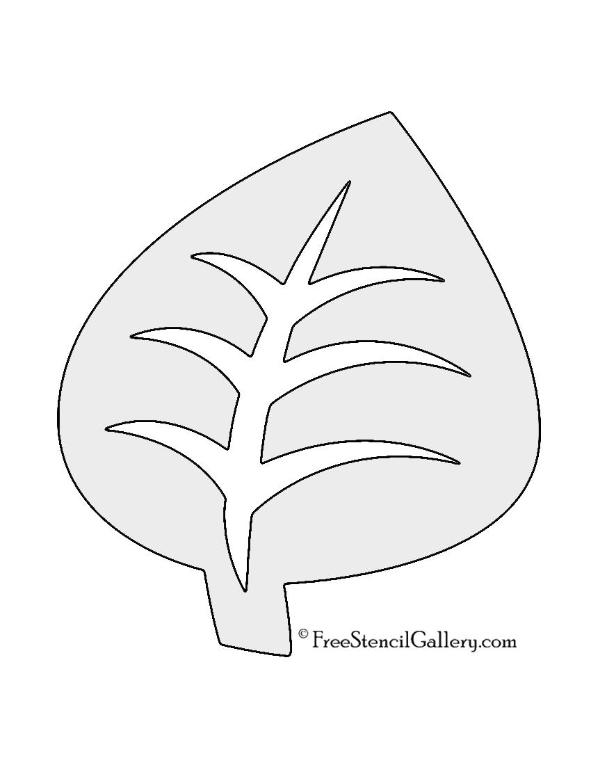 Pokemon - Grass Type Symbol Stencil