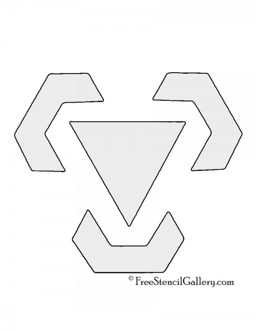 Pokemon - Metal Type Symbol Stencil