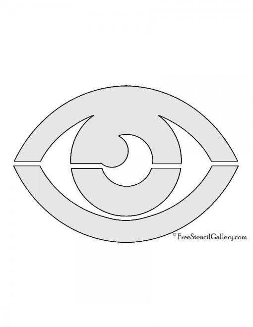 Pokemon - Psychic Type Symbol Stencil