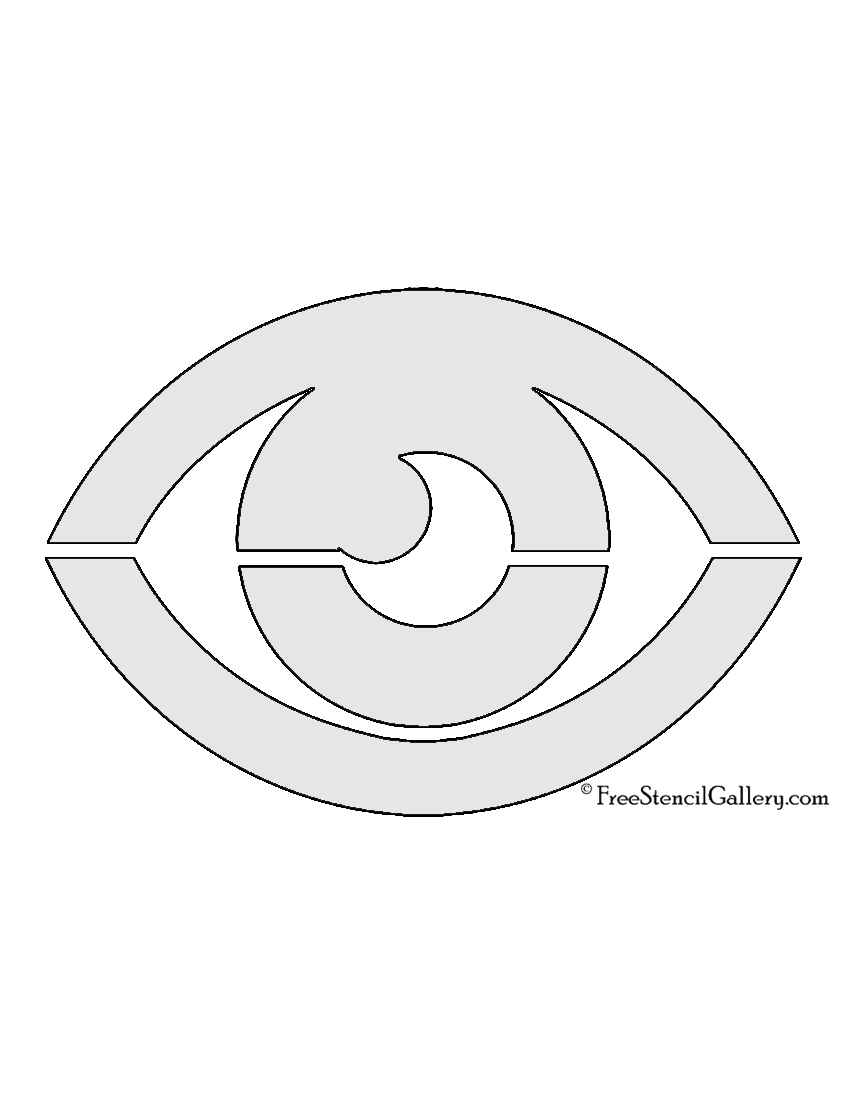 Pokemon - Psychic Type Symbol Stencil   Free Stencil Gallery