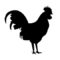Rooster Silhouette Stencil