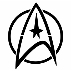 Star Trek – Command Insignia Stencil