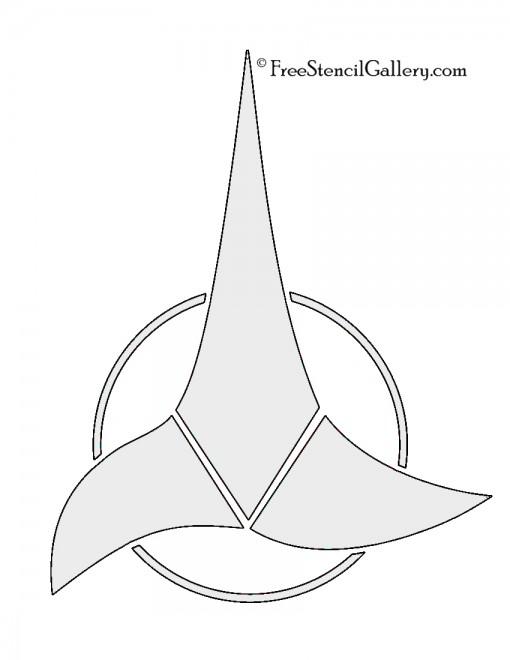 Star Trek - Klingon Insignia Stencil