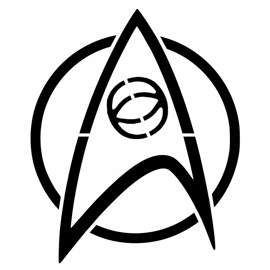 Star Trek – Science Insignia Stencil