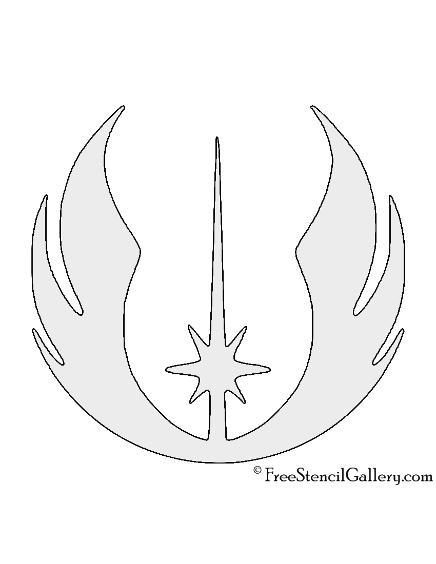 picture relating to Star Wars Pumpkin Stencils Printable titled Star Wars - Jedi Buy Emblem Stencil Absolutely free Stencil Gallery