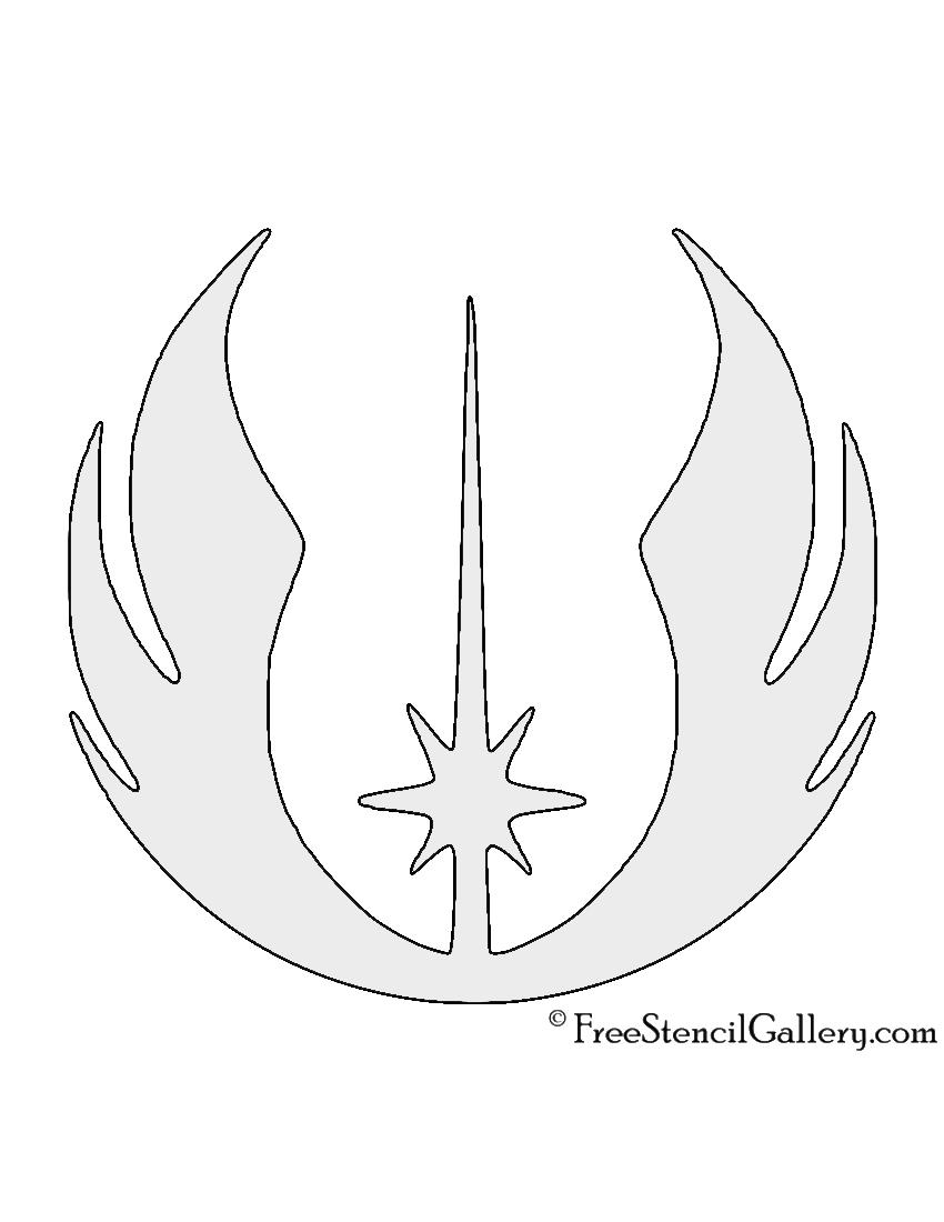 Star Wars - Jedi Order Symbol Stencil