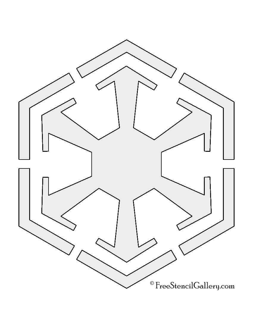 Star Wars Sith Empire Symbol Stencil Free Stencil Gallery