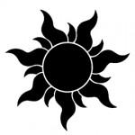 Tangled - Sun Stencil