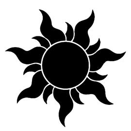 Tangled – Sun Stencil