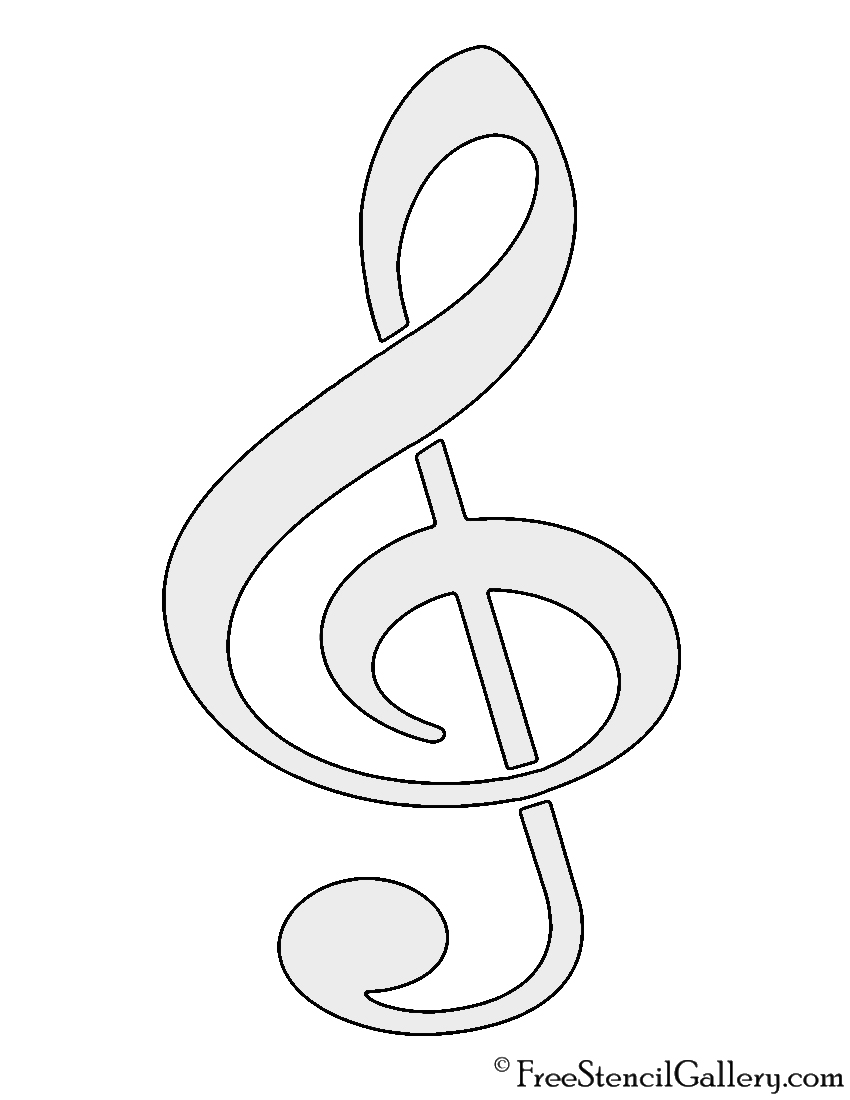 image regarding Music Note Stencils Printable known as Tunes Be aware Stencils Printable. Household Rent Template