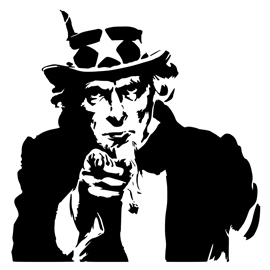 Uncle Sam – I Want You Stencil