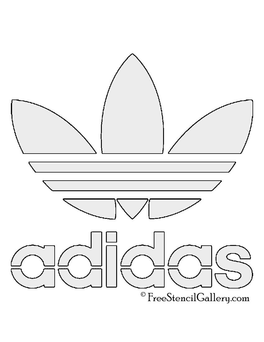 adidas trefoil logo free stencil gallery
